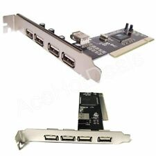 New USB 2.0 5 PORT (4+1) PCI HUB CARD HIGH SPEED ADAPTER 480MB for PC Windows