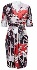 BNWT Phase Eight Abrielle Twist Front Dress Size 14 Multi RRP £120