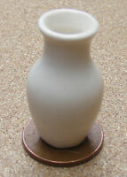 1:12 Cream Vase Dolls House Miniature Ceramic Ornament Flower Accessory C24