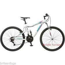 "Mongoose Women's Mountain Bike Bicycle Aluminum Frame 26"" Full Suspension NEW"