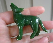 "2"" Canadian Top Grade Jade Carved Wolf"