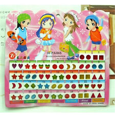FD553 Girl Kid Crystal Stick Earring Sticker Toy Body Bag Party Jewellry ~60pcs/