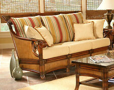 Pacifica Natural Rattan and Wicker Sofa Model 4303 from South Sea Rattan