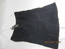 INC i n c TANKINI TOP    BLACK SIZE 6  WITH TAG            read the label