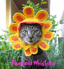 """Late Bloomer flower costume for cats and dogs 7-11"""" collar size"""