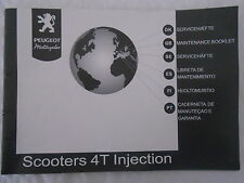 New Genuine Peugeot Scooter 4T Injection Maintenance Booklet gh