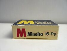 MINOLTA 16 PS  Camera 25/3.5 ROKKOR LENS BOXED w/ ALL PAPERS EXCELLENT CONDITION