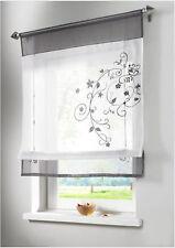 GS Vorhang Gardine Fenster Raffrollo Raffgardine Blumen Strick Farbwahl 4 Größen