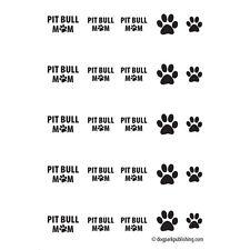 Pit Bull Mom Nail Art - Black - (DPNA002)- Free Shipping