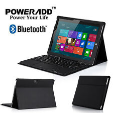 Leather Cover Case w/ Wireless Bluetooth Keyboard for Microsoft Surface 3 10.8''
