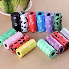 10Roll/150PCS Pet Dog Waste Poo Poop Bag Printing Degradable Clean-up Dispenser