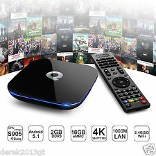 Q Caja 2+16GB Android 5.1 4K Smart TV Box Kodi XBMC completamente cargado Quad Core Wifi 1