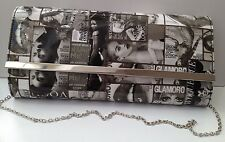 Magazine Cover celebrity inspired envelope Clutch