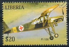 Fieseler Fi-156 Storch Stork (Air Ambulance) Aircraft Stamp (Liberia)