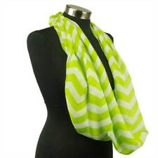 Chevron Sheer Infinity Scarf Soft Color Scarves Lime Green Lightweight New US