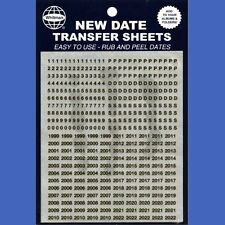 Whitman New Date Transfer Sheets Black 1999-2022 Update Your Albums and Folders