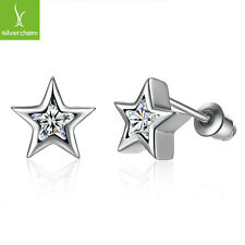 2016 Christmas Five Star Pave CZ Crystal For Women Stud Earring Fashion Jewelry