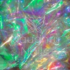Large 50x70cm Iridescent Mylar Sheet Shattered Glass Nail Art