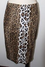 MOSCHINO LEOPARD PENCIL SKIRT SIZE 8 MADE IN ITALY