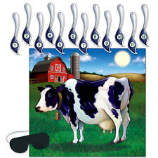 PIN THE TAIL ON THE COW FARMYARD COWBOY PARTY GAME!