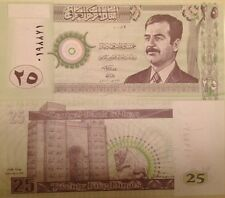 IRAQI IRAQ SADDAM HUSSEIN 2001 25 DINAR UNC BANKNOTE P-86 FROM A USA SELLER !!