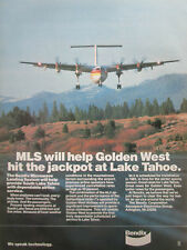6/1981 PUB BENDIX MLS MICROWAVE LANDING SYSTEM DASH 7 GOLDEN WEST LAKE TAHOE AD