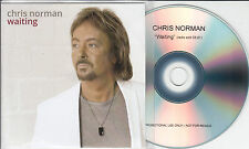 CHRIS NORMAN Waiting 2015 UK 1-track promo test CD