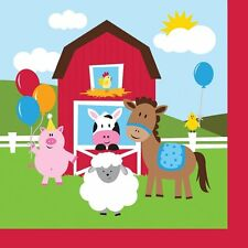 'Farmhouse Fun' Children's Birthday Party, Table Cover, Farm Animals