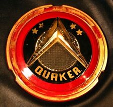 Vintage QUAKER OIL STOVE Door Glass Insert Medallion