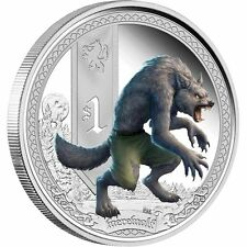 Tuvalu 2013 $1 Mythical Creatures - Werewolf 1oz Silver Proof