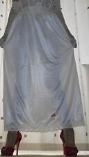 Formal length cream silky nylon petticoat half slip~underskirt lingerie 20~22 BN