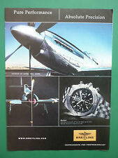 11/2007 PUB MONTRE BREITLING WATCHES SUISSE BLACKBIRD P-51 RENO AIR RACES AD