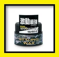 GATSBY STYLING WAX Ultra Hard 80g Japan made wild look hair gel clay paste