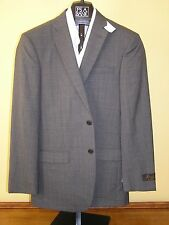 $650 New Jos A Bank JOSEPH darker Grey plaid pattern suit 38 L 32 W Slim fit