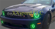 ORACLE Ford Mustang V6 10-12 GREEN LED Headlight + Foglight Halo Angel Eyes Kit