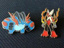 POKEMON MEGA SWAMPERT & MEGA BLAZIKEN OFFICIAL COLLECTOR'S PINS - NEW!