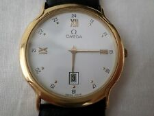 Omega Men's Vintage 18k Solid Yellow Gold Wrist Watch International Collection