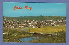 Vintage PC: Bird's Eye View of City of Coos Bay, Oregon Rail Yard Hwy 101 1980's
