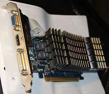 ASUS Geforce GT520 SLPCIe 2.0, DDR3 1 Go; Output VGA, HDMI et DVI, acc. mais TTB