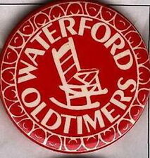 WATERFORD ONTARIO CANADA OLDTIMERS HOCKEY OFFICIAL OLD PIN BUTTON