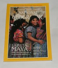 NATIONAL GEOGRAPHIC MAGAZINE OCTOBER 1989 - LA RUTA MAYA/NEW ZEALAND WATERS