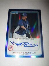 MANNY BANUELOS 2011 Bowman Chrome BLUE REFRACTOR Autograph #58/150 AUTO Braves