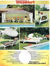 Publicité Advertising 1974 Le Mobilier de Jardin Triconfort