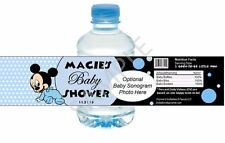 Baby Mickey Mouse Water Bottle Wrapper - Baby Shower/First Birthday Party Favor
