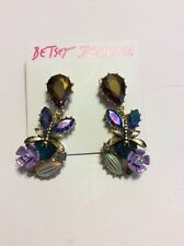 $40 Betsey Johnson Spring Ahead Flower Drop Earrings  Ab 4