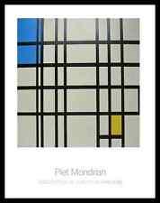 Piet Mondrian Rhythmus ausen Linien Poster Kunstdruck und Rahmen 90x70cm