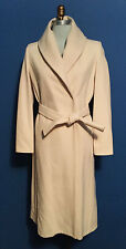 SISLEY cream wool wrap coat with belt is a size 42-8~S/M~BEAUTIFUL~QUALITY