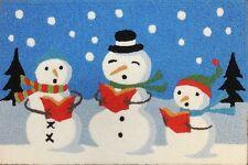 Jellybean Indoor Outdoor Area Accent Rug Caroling Snowmen