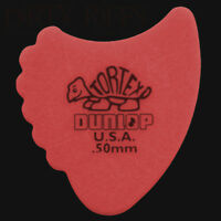 Dunlop Tortex Fin / Fins Red 0.50mm Guitar Picks Plectrums - 6 10 12 20 24 36