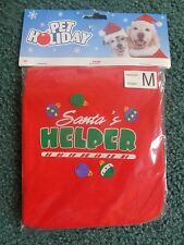 NWT Petholiday Santa's Helper Dog tee Size M